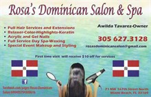 Rosa's Dominican Salon and Spa in North Miami Beach