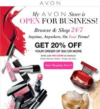 Avon Ind. Sales Rep., Julie Freemyers in Redding